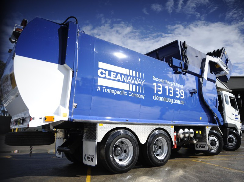 A Cleanaway waste collection vehicle
