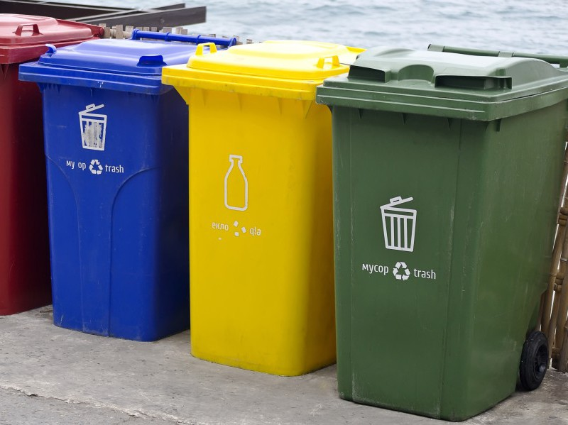 Three-bin kerbside collection program