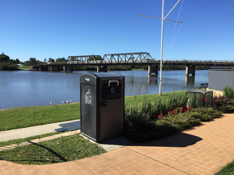 A Bigbelly solar compactor in Macksville, NSW