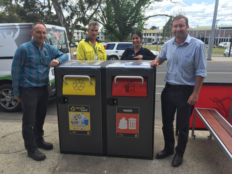 The first Bigbelly bins in Victoria in Lorne