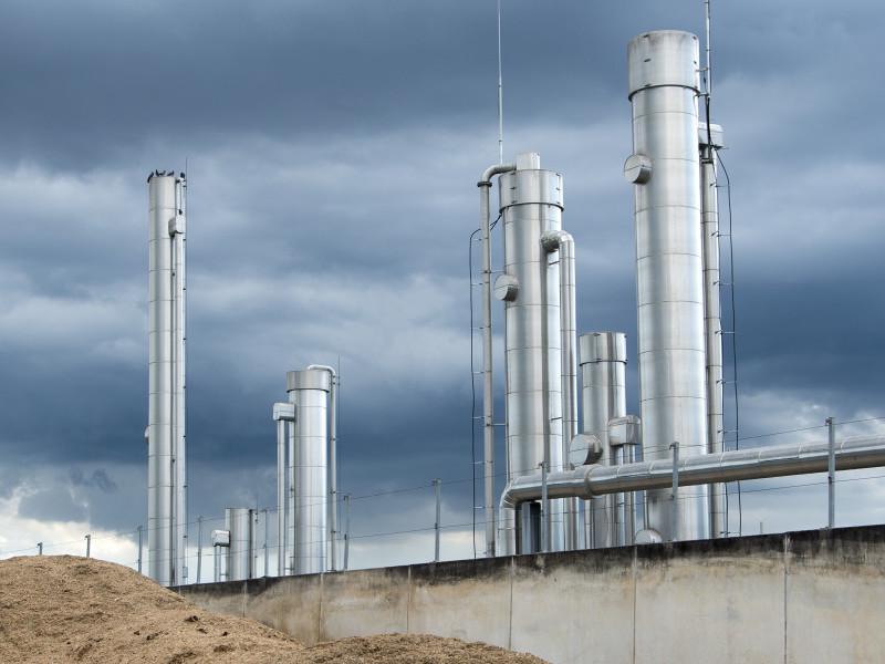 A bio-gas plant