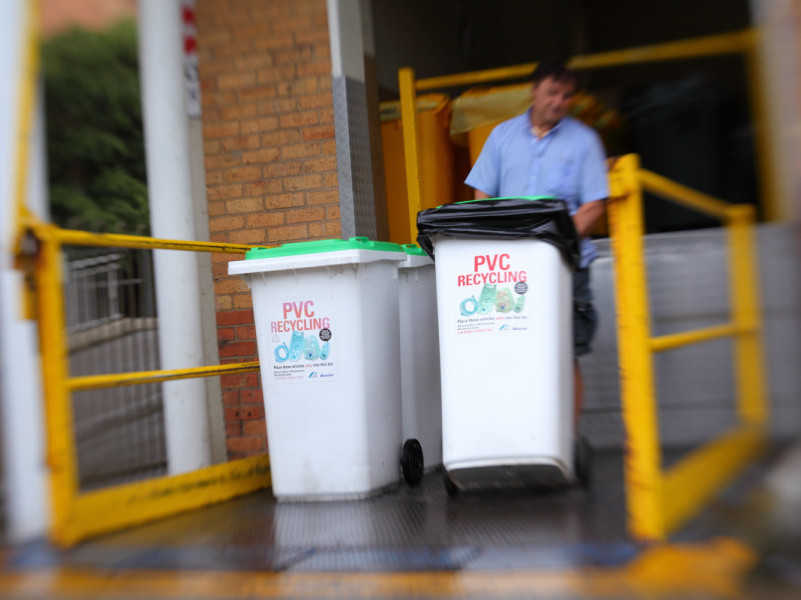 PVC Recovery In Hospitals recycling bin collections