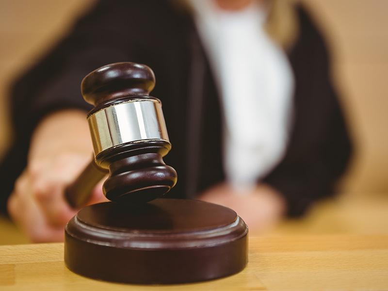 Judge bangs gavel to pass sentencing