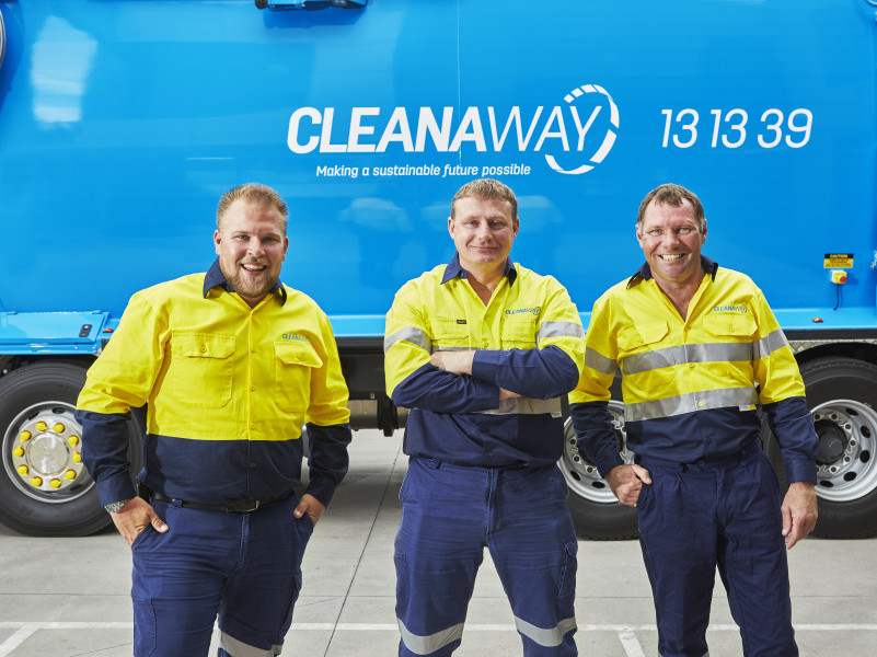 New Cleanaway waste Management branding