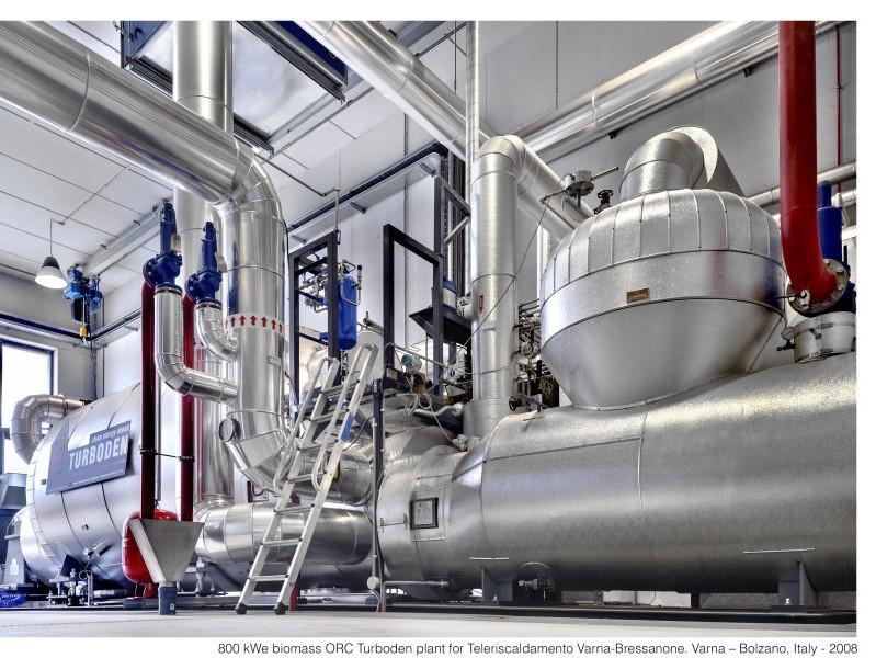 Turboden's ORC biomass cogeneration plant at Varna-Bolzarno Italy