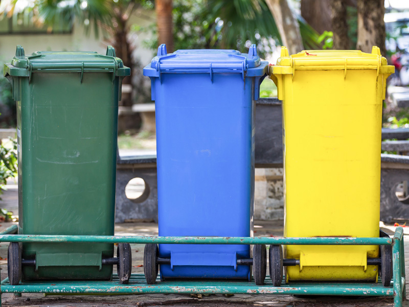Three-bin kerbside collection system