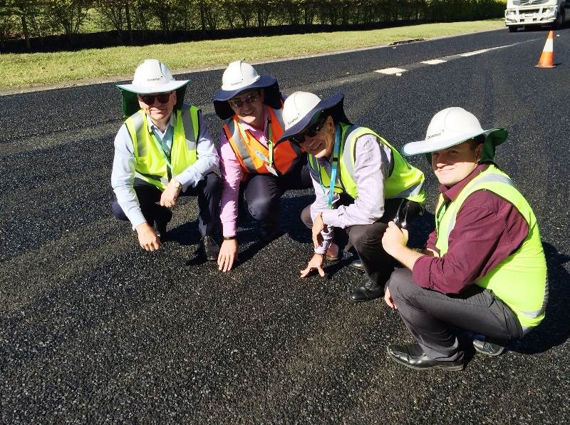 Downer debuts world-first road product made from waste