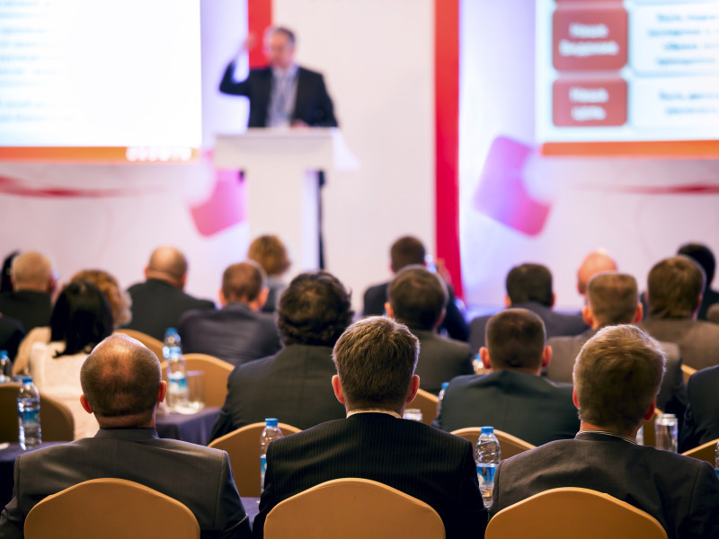 A conference and delegates