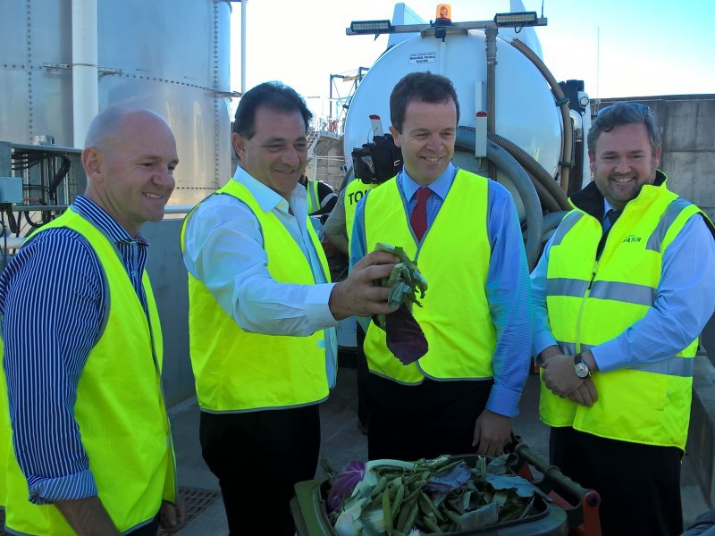 Launch of Sydney Water's food waste to energy trial at Cronulla