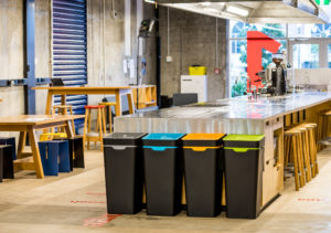 Method recycling bins in the workplace