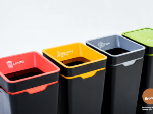 A range from Method recycling bins