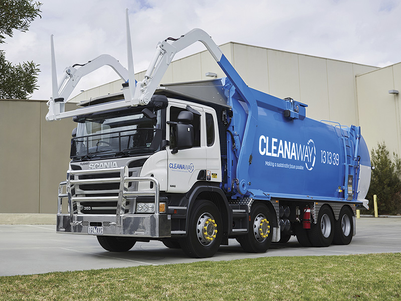 One of the Cleanaway fleet