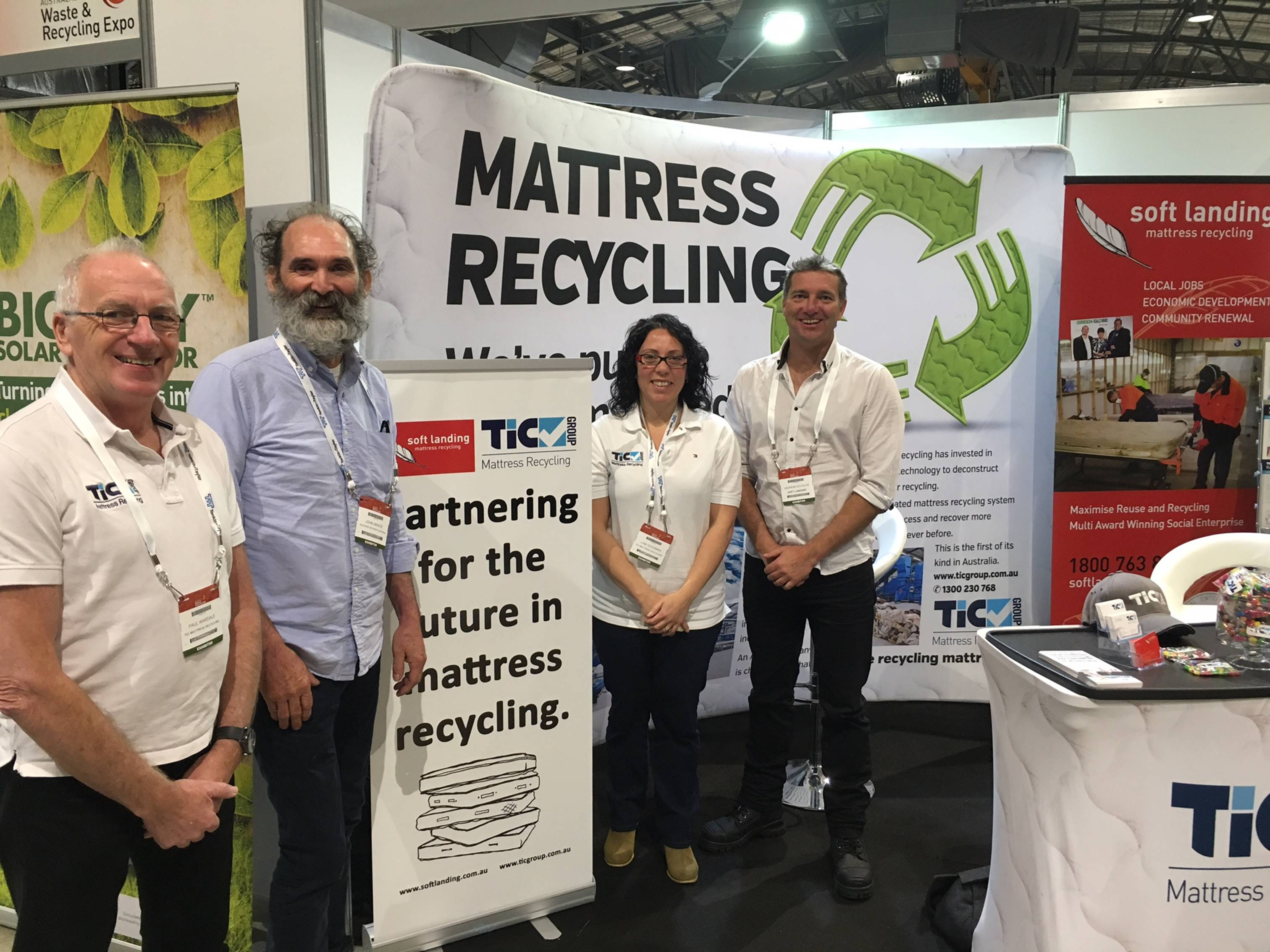 TIC and Soft Landing collaborate on mattress recycling