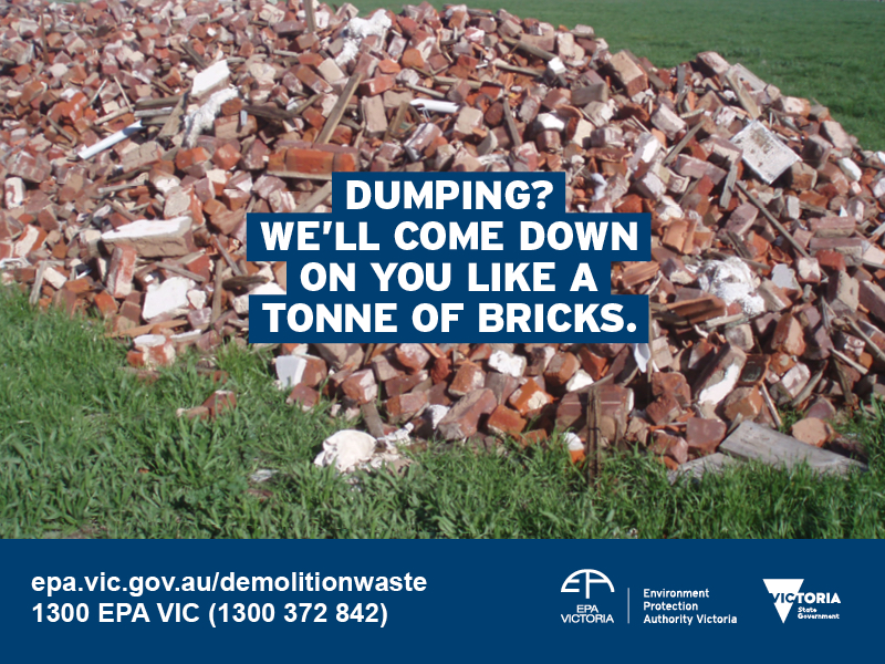 New EPA VIC campaign targets C&D waste dumping
