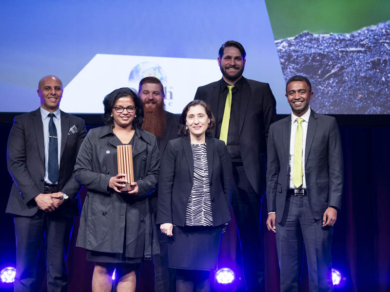 The team from TIC Group-owned Solvup with Minister Lily D'Ambrosio, who presented the Sustainability Award