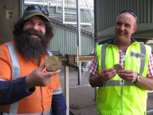Ray Howe, Production Manager, BRA and Robert Cox, Plant Manager, Greenham Tasmania