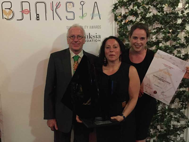 TIC Group representatives accept Banksia Award