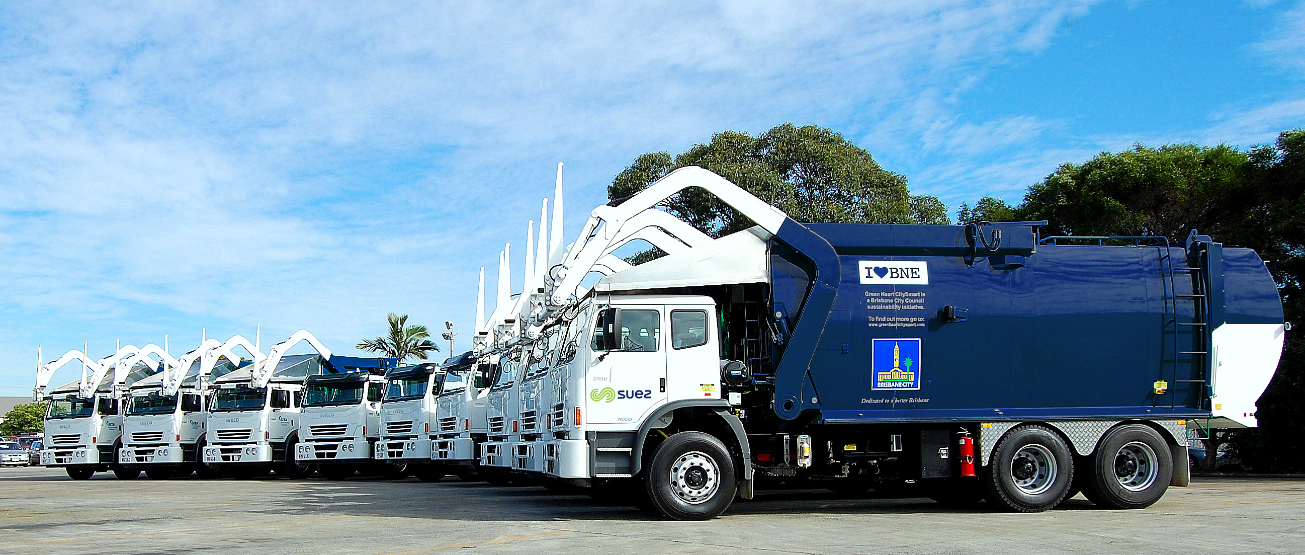 SUEZ-Brisbane council trucks