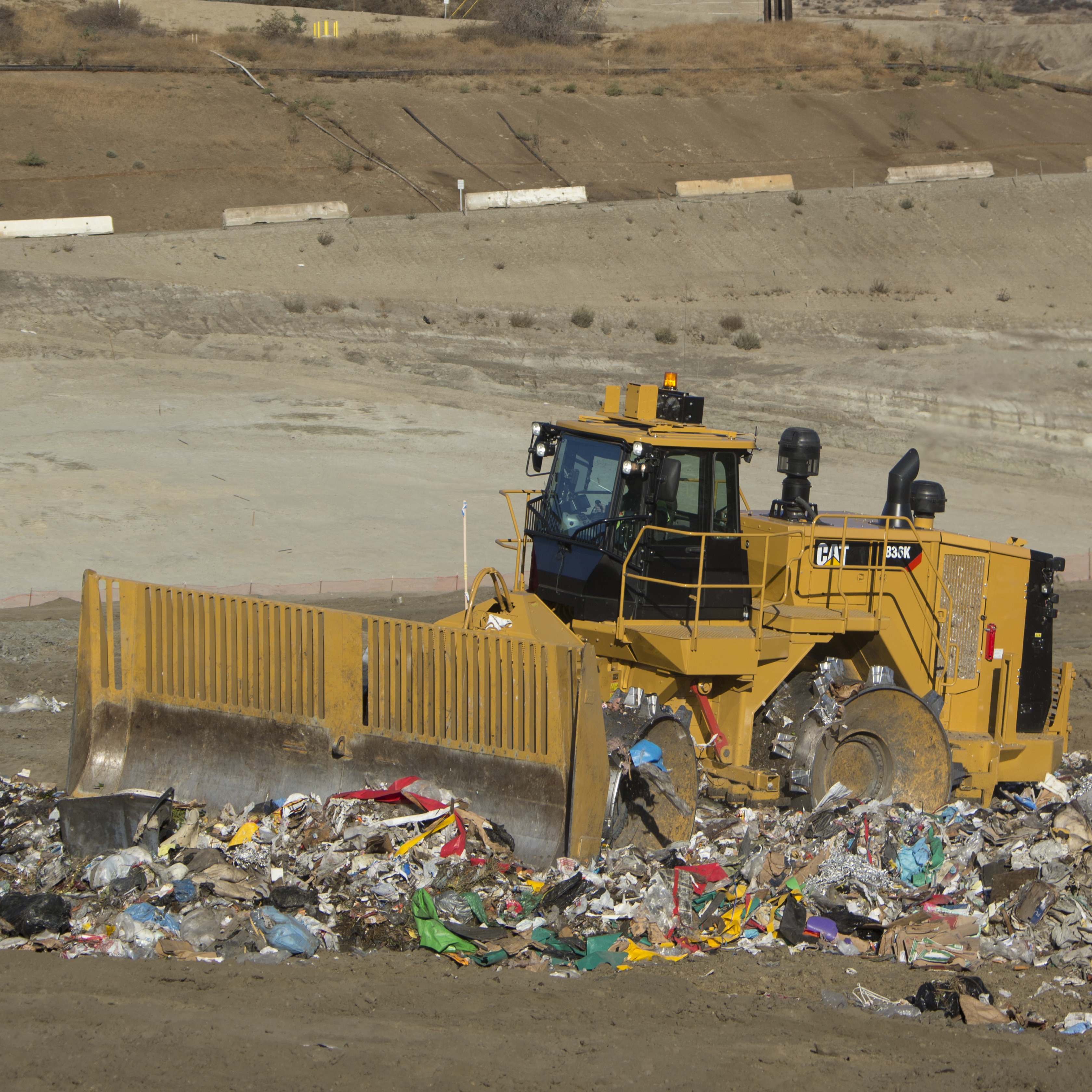 Landfill Compactors Garbage Pictures : Cat k landfill compactor waste management review