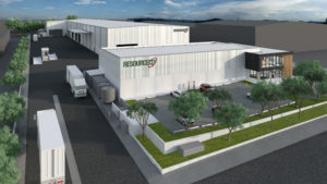 An artist's 3D rendering of ResourceCo's Wetherill Park facility.