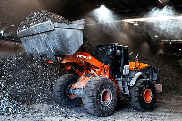 Hitachi's ZW-5 wheel loaders