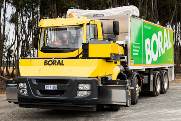 Boral's aggregate spreader to improve road construction safety
