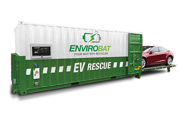 CMA Ecocycle's electric vehicle fire suppressant system