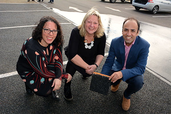 City of Mitcham installs recycled tyre pavement